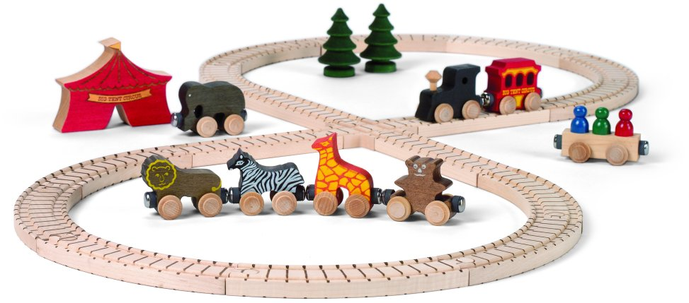 wooden trains - wooden toy train sets complete with wooden ...