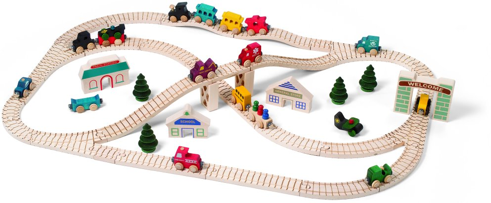 Toy Trains Tracks - Wooden Electric Sets - Tesco